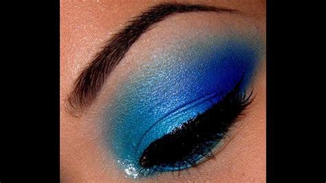 super easy blue eyeshadow tutorial youtube