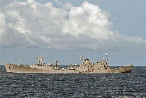 uss america sinking location wreck of uss usns butte t ae 27