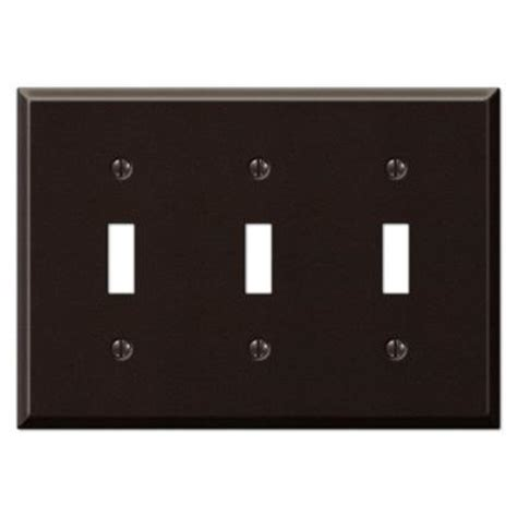 creative accents wall plates creative accents steel 3 toggle wall plate antique