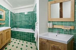 carrelage vert d eau renovation salle de bain design With carrelage salle de bain vert