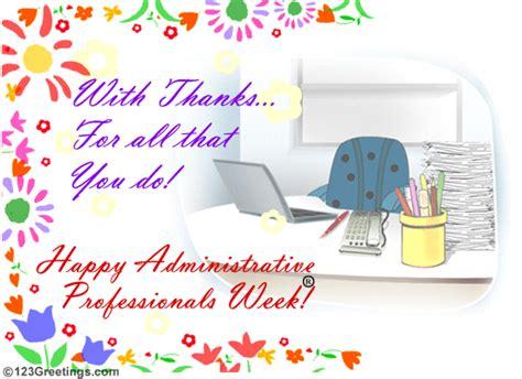 administrative professionals week april