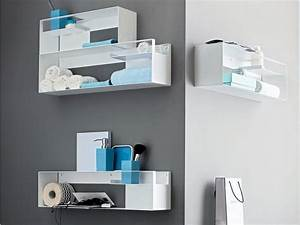 Etagere murales top deco etagere murale salon deco salon for Salle de bain design avec hottes décoratives murales
