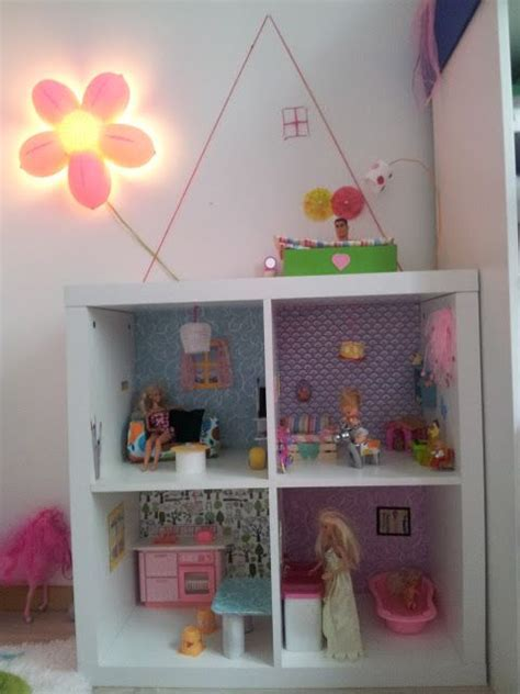 barbiehaus selbstgebaut puppenhaus bastelblog bedroom creative rooms und
