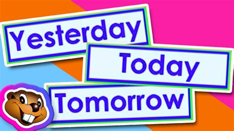 Teach Yesterday, Today, Tomorrow (clip)  English Grammar Youtube