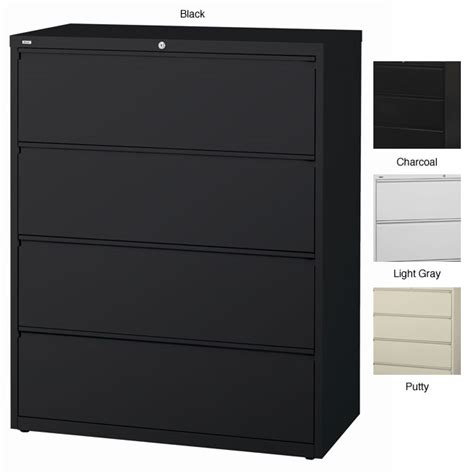 hirsh file cabinet 4 drawer hirsh hl10000 series 42 inch wide 4 drawer commercial