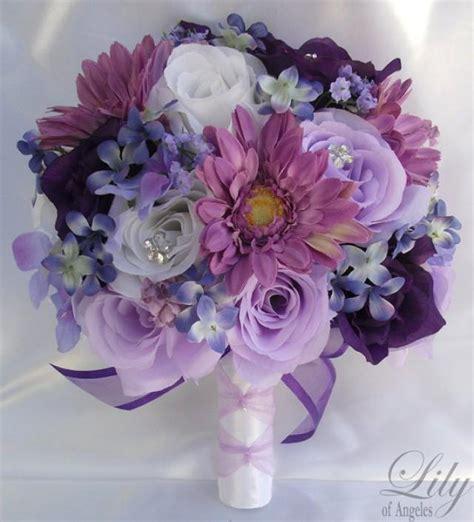 silk flower wedding bouquet silk wedding arrangements
