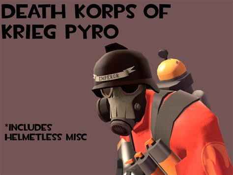 death korps  krieg pyro helmet fixed clipping team