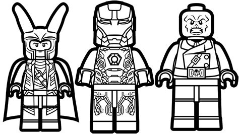 Lego Marvel Coloring Pages by Lego Loki Coloring Pages Collection Coloring For 2019