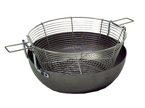 batterie de cuisine pour plaque à induction bassine à friture bombée ø 32 cm meilleurduchef com