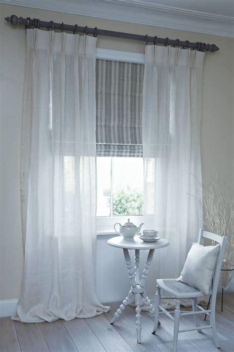dublin roman blind  clare voile curtains  pole