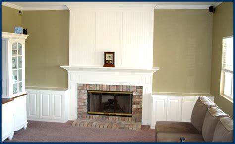 Beadboard Fireplace Surround : Fireplace Built-ins And Surround On Pinterest