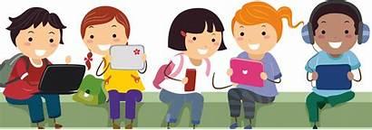 Technology Ict Cartoon Children Using Pre Send