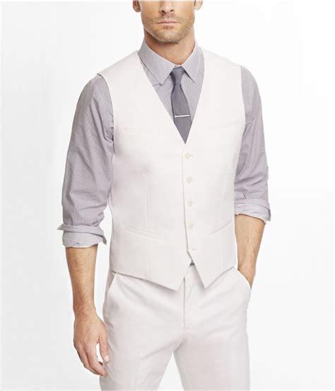 lyst express white cotton sateen suit vest  white  men