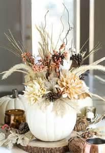 Fall Pumpkin Flower Centerpiece