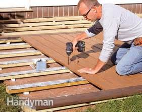 how to build a deck over a concrete patio the family