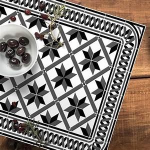 Set De Table Carreaux Ciment : set de table carreaux de ciment marguerite noir 35x50cm ~ Melissatoandfro.com Idées de Décoration