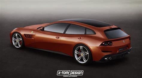 Rendering Ferrari Gtc4 Lusso 5door