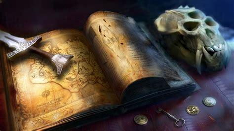 map  elder scrolls sword skyrim skull book fantasy