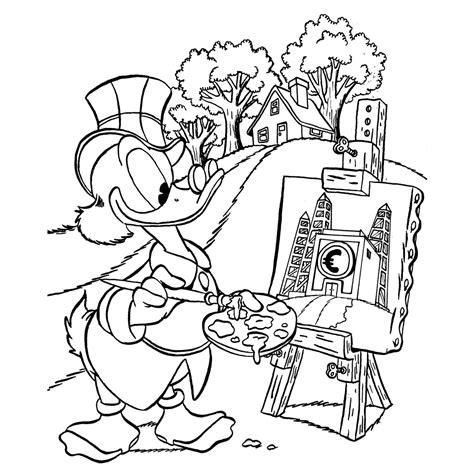 Kleurplaat Donald Duck Met Taart by Dagobert Duck Kleurplaten Kleurplatenpagina Nl