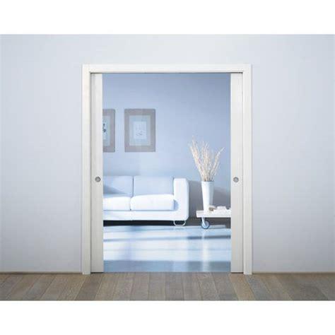 largeur porte chambre système galandage aluminium porte de largeur 2 x 103 cm