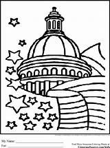 Coloring Government Pages Washington Dc Capitol Building Drawing Dome Branches Printable Drawings Icon Sheets Three Usa Template Books Colouring America sketch template