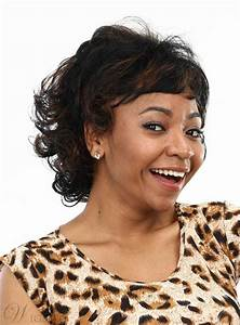 Aisi® Cute Short Curly Capless Synthetic Hair Wig 10 ...  Curly