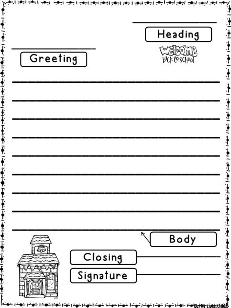 Letter Writing Template Letter Writing Paper Template For Grade