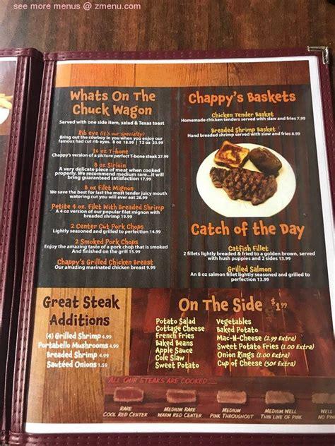 menu  chappys steakhouse restaurant grayville