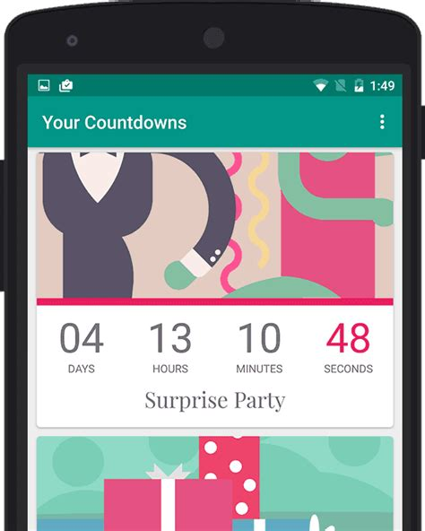 countdown app fuer android
