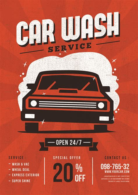 Are you looking for car wash flyer design templates psd or ai files? Car Wash Service Flyer by tokosatsu | GraphicRiver