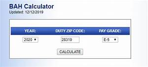 Army Pay Chart 2020 Bah Rates For 2020 Calculator Armyreenlistment