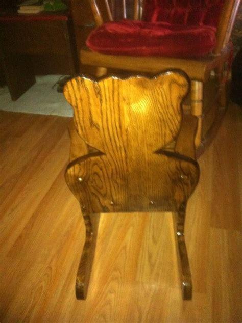 peytons teddy bear rocking chair  kristopher