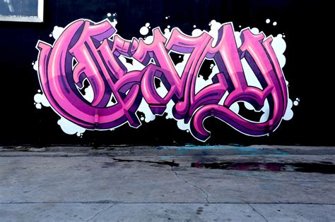 Crazy Old English Graffiti Lettering By Self In La