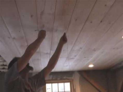 Pine Wood Plank Ceiling