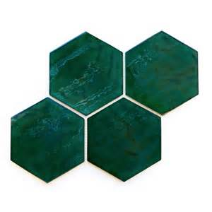 Kitchen Tile Backsplash Gallery Stunning Botanical Wall Using Hexagon Tiles