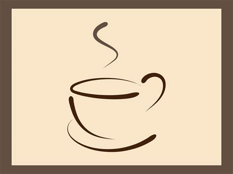 Coffee Cup Logo Template Vector Art & Graphics Robusta Coffee News Vs Arabica Reddit Kenya Plant Is Grown On Hills Bialetti Maker Italy Stock Price Tassimo Pods Tesco Ireland Green Extract Germany