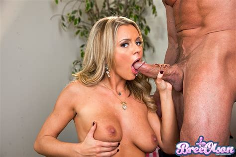 Bree Olson Blowjob Of A Big Cock Makes Him Want To Fuck Her Hairy Pussy XBabe