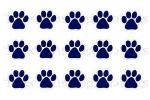 Wildcat Mascot Paw Print Picture for School