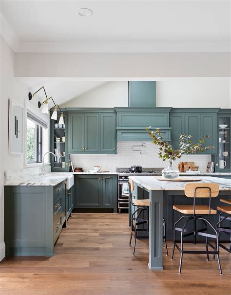 But people are becoming bolder when adding pops of color to their kitchens. Kitchen Colors with White Wood Cabinets 2021 ...