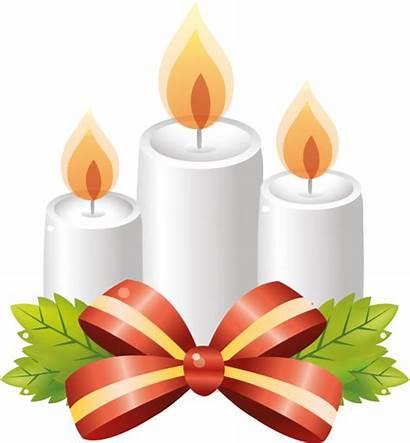 Candle Orange Flameless Claus Santa Transparent Wax