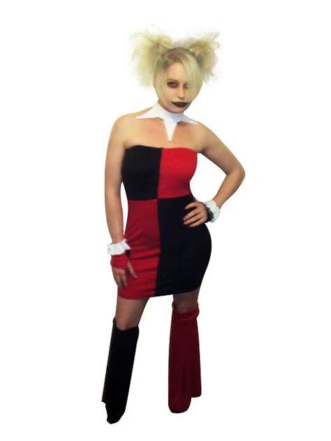 Harley Quinn Cosplay Costume Halloween Dress 15112079   cosercosplay.com