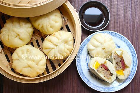 cuisine chinoise vapeur banh bao brioche à la vapeur farcie au porc et aux