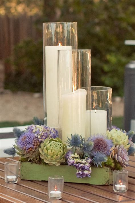 French country metal candelabra candle & tea light holders. Dining Room: Beautiful Candle Centerpieces For Romantic ...