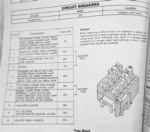 1985 Dodge Ram Van B250 Fuse Box Diagram
