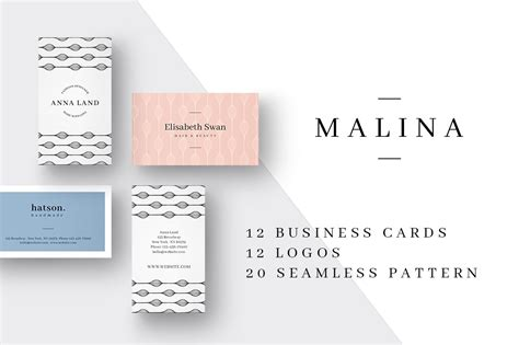malina business cards logos business card templates
