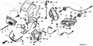 Honda Atv 2007 Oem Parts Diagram For Headlight   U0026 39 07