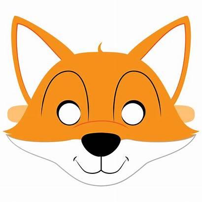 Fox Mask Printable Template Templates Papercraft Paper