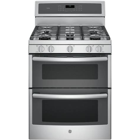ge profile 30 in 6 8 cu ft oven gas range with self cleaning convection oven lower