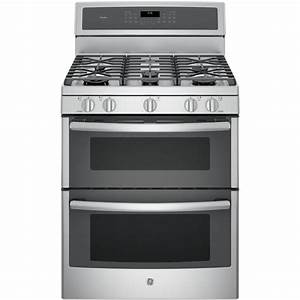 Ge Profile 30 In  6 8 Cu  Ft  Double Oven Gas Range With Self