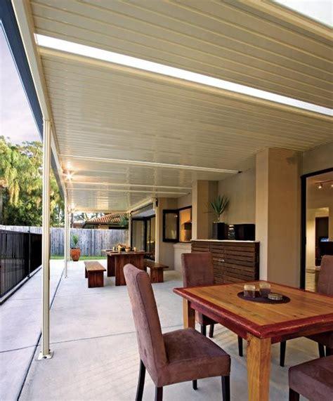 stratco flat roof pergola outdoor decks patios patio